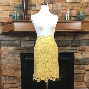 Elevenses Allamanda golden yellow lace skirt 2